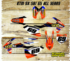 KTM SX 50 65 Graphics Kit-Decals-Sticker Kit-MX-unit-Orange