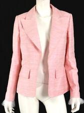 CHANEL $4,700 17C Paris Cuba Pink Dupioni Silk Tulle Cuff Jacket 42