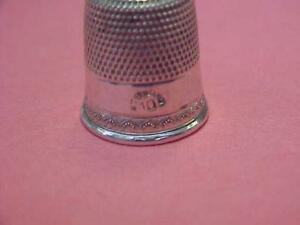 Thimble Vintage Sterling in size 10 with nice design   #15804C