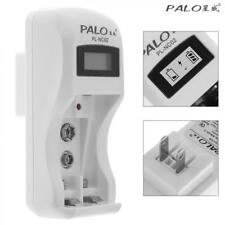 PALO 2 Slots Battery Charger for 9V Li-ion Ni-MH AA AAA Rechargeable Batteries