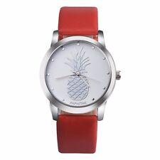 paphitak Mujer Hombre Informal Reloj Piña Piel Sintética analógico de cuarzo