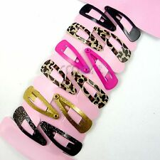 12pcs Tiny Leopard Mixed Hair Clip Snaps Accessories for Girls Kids Baby 1 Set