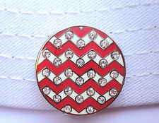 Crystal Zig Zag Golf Ball Marker with Magnetic Hat Clip