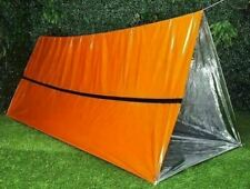 Emergency Survival Tube Tent 8ft x 4ft Mylar Camping Gear