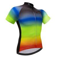 Men's Short Sleeve Cycling Biking Jersey Colorful Bicycle Bike Shirt Top S-5XL