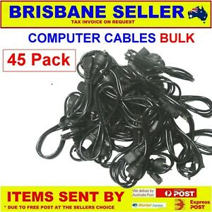 45 x COMPUTER CABLES 3 PIN AC POWER LEAD PRINTER IEC C13 MALE TO FEMALE