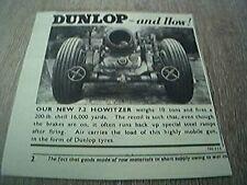 ephemera advert 1941 dunlop and how howitzer ww2