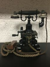 More details for hand crank telephone no. 16 skeletal eiffel tower desk phone vintage/antique