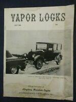 Vintage Vapor Locks Automobile Club of America July 1961 Stephens Sedan 1922