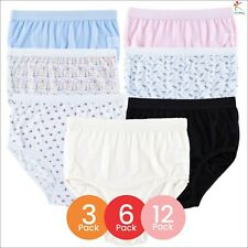 12 Packs Ladies Elastic Full Mama Briefs Knickers Cotton Rich Underwear Lingerie