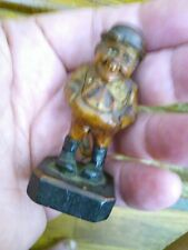 Rare small Anri carved wood figure man Italy