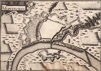 Gravure XVIIe Montauban Tarn et Garonne Quercy Christophe Tassin 1634