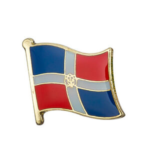 Dominican Republic Flag Lapel Pin 19 x 16mm Hat Tie Tack Badge Pin Free Shipping