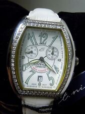 Ladies SS Elini New Yorker XL Chronograph with Diamond Bezel with Box Papers Tag