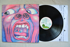KING CRIMSON~Court Of The Crimson King~UK Island Pink Rim Vinyl LP 1972 EX+