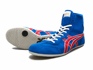 ASICS Shoes Wrestling Boxing EX-EO TWR900 Blue x Red