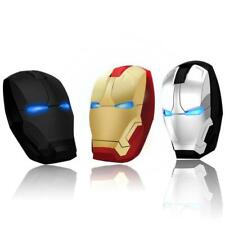 Mouse Iron Man Wireless Gaming Mice Button 2400dpi Adjustable Computer Laptop