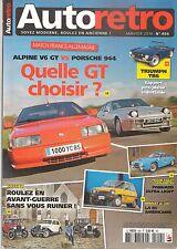 AUTO RETRO 404 R5 EL COCHE ALPINE V6 GT PORSCHE 944 TRIUMPH TR6 KENWORTH W900