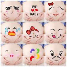 4 Stück Gesichtsausdrücke Schwangerschaft Baby Bauch Aufkleber Mutterschaft 2019