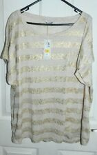 BNWT Marks and Spencers Gold Mix top size UK 24
