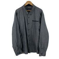 Jonathan Adams Mens Button Up Shirt Size 3XL Long Sleeve Grey