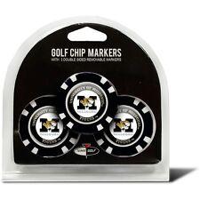 Team Golf NCAA Missouri Tigers Poker Chips Golf Ball Markers 3-Pack - NIB $15