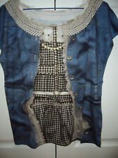BRAND NEW FRANCHE LIPPEE FAKE DENIM TOP MADE IN JAPAN