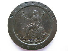 1797 Cartwheel Twopence, NEF. ACS