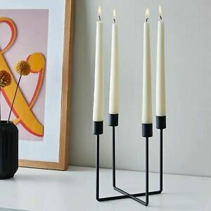 Black Dinner Candelabra 4 pillar candle holder retro dining light centrepiece