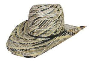 American Hat Company Black Tan Ivory CHL Straw Cowboy Hat 5600