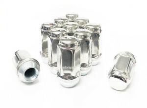 """10x STAINLESS STEEL LUG NUTS 1/2-20 OEM FACTORY 2.36"""" EXTRA LONG FORD JEEP DODGE"""