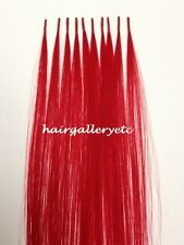 "12"" I tip 100% Human Hair Extension 10pcs Micro Beads TOOL KIT PLIERS HOOK LOOP"