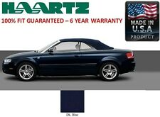 Audi A4 Convertible Soft Top With Heated Glass window in Blue German A5 Canvas