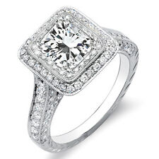 3.10 Ct. Radiant Cut Double Halo Engagement Diamond Ring G,VS2 EGL USA Platinum