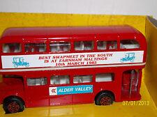 "Corgi Double Decker Bus #469 Routmaster ""Alder Valley Swapmeet, March 10, 1985"""