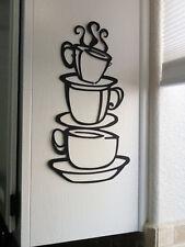 Coffee House Cup Java Silhouette Wall Art Metal Mug Kitchen Home Decor