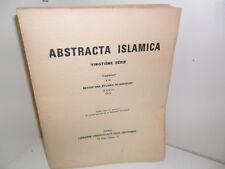 Abstracta Islamica, Culture Islamique - Geuthner 1966.