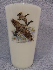 Fire King Wild Game Canada Goose Milk Glass Tumbler-Lot of 2-