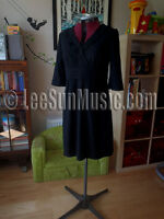 Gorgeous Black BODEN Wool V Neck Dress UK 8 or 12 or 14 NEW