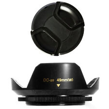 49mm Lens Hood Wide Petal and Lens Cap for Sony Nex c3 nex 7 nex 5n nex 3 Nex5