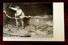 FIRE BOSS TEST FOR GAS AFTER FALL OF ROOF Panther Creek Valley PA 1904 Postcard