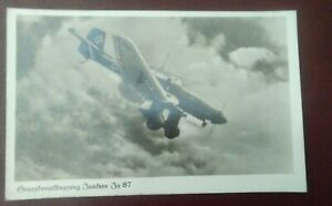 Original German WW2 postcard; Luftwaffe ju 87 stuka  postcard