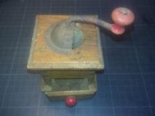Ancien moulin à café bois - poupée, dinette - années 30 - manque