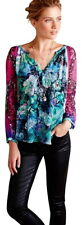 $118 Anthropologie Femina Peasant Blouse Small 2 4 Top Floral Happy KAS New York