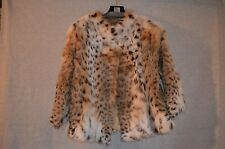 Lynx Fur Coat 23inch  3/4 Sleeve New -- Saks 5th Fur Salon Size S -Free Shipping