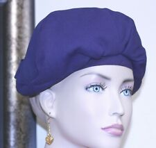 "Dana Marte chapeau ladies hat navy slouch beret bow at back 21 3/4"" circumferenc"