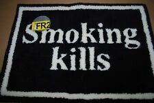 "#FR2 Fxxing Rabbits ""Smoking Kills"" - Gallery 1950 Floor Rug Mat *Vintage* Black"