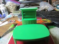 Dollhouse Furniture - Superior Green Hutch and Table