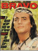BRAVO Nr.33 vom 8.8.1966 Michael Landon, Gitte, Pierre Brice, Small Faces, Who..