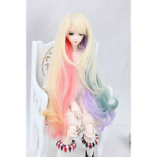 "[wamami] 97# Multicolour Long Wig Fits On 1/4 MSD AOD DOD DZ BJD Dollfie 7""-8"""
